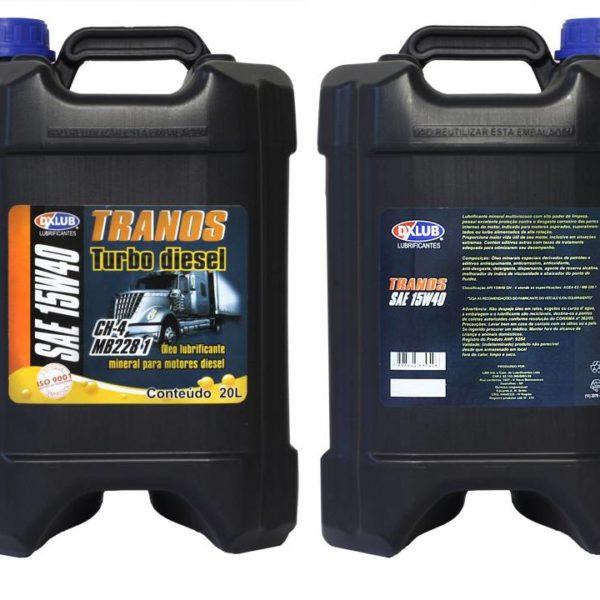 Lubrificante DXLUB Tranos Turbo Diesel Sae 15w40 API CH-4 Balde 20 Litros